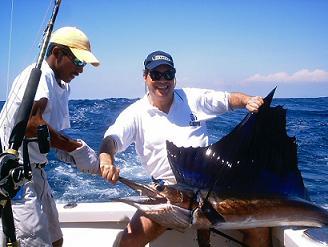 Pescando en Océano Pacífico