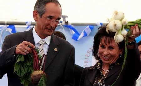 Pareja Presidencial: Álvaro Colom y Sandra Torres