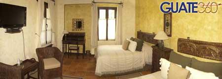 Fotografía de habitación en Hotel Vilaflor de La Antigua Guatemala.