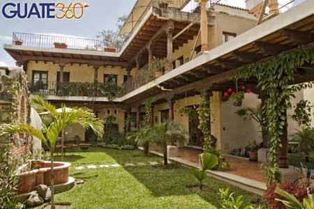 Vista de Hotel Vilaflor en La Antigua Guatemala.