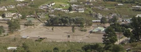 Guatemala sufre inundaciones y ríos desbordados por la tormenta Agatha.