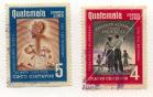 Algunos sellos postales de Guatemala