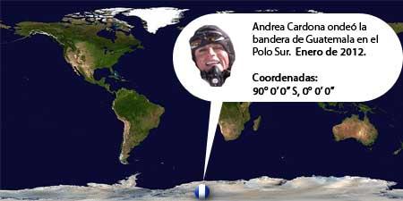 Andrea Cardona - Deportista de Guatemala llega al Polo Sur