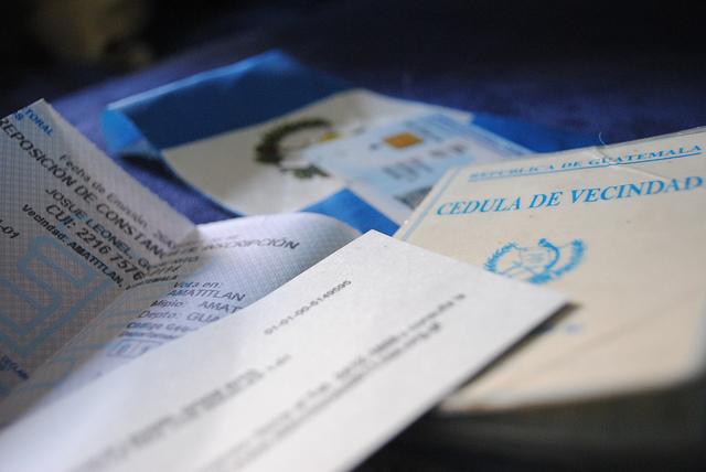 La Cédula de Vecindad de Guatemala pierde vigencia en agosto 2013