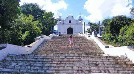 Iglesia el Calvario Salamaen Baja Verapaz, Guatemala