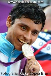 Erick Barrondo de Guatemala con la Medalla de Plata en Juegos Olímpicos.