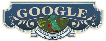 Doodle sobre la Independencia de Guatemala.
