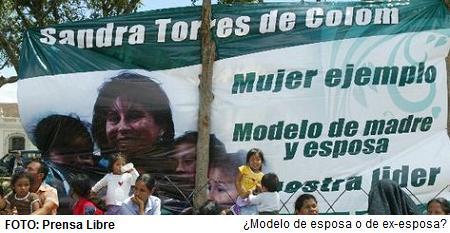 Sandra Torres Colom - Candidata a Presidente de Guatemala por la UNE.