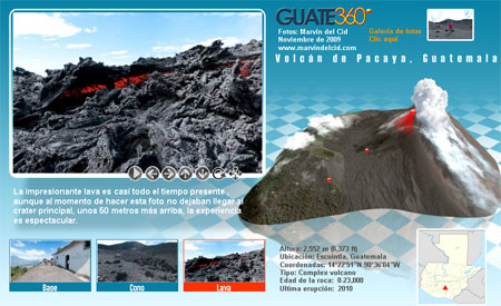 Tour virtual del Volcán de Pacaya